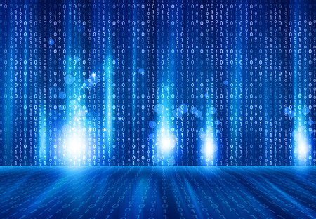 programming code: Binary code on hi- tech background