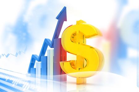 clavados: Gráfico del mercado de valores y negocio Gráfico de barras