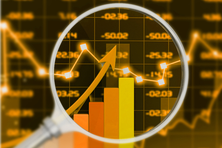 stock chart: Stock market chart. 3d render