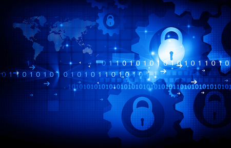 security technology: Internet Security concept. Technology background Stock Photo