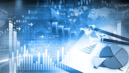 3d 비즈니스 성장 차트입니다. 추상 사업 배경에 글로벌 금융 차트 스톡 콘텐츠