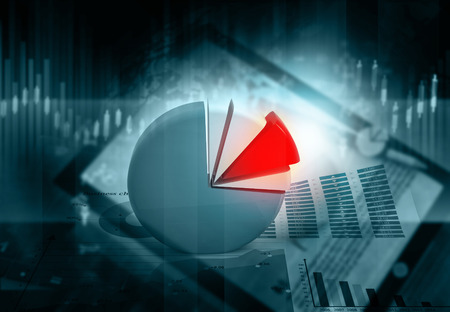 Background image of 3d business chart  Stock Photo