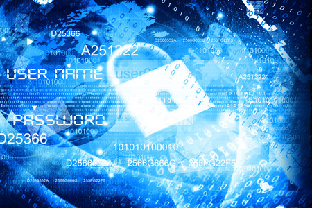 Global Cyber security concept. 3d illustration  Stock Photo
