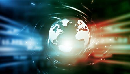 Global internet technology background. 3d illustration