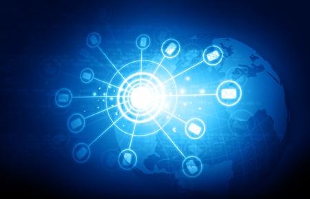 Global communication network. 3d illustration