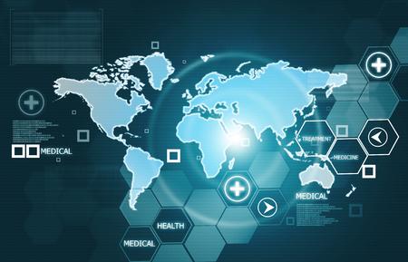 2d illustration of global health care Stock fotó