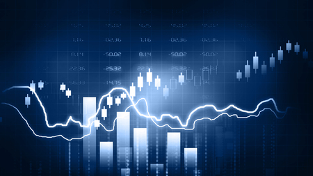 Stock Market Chart. 2d illustration Stock Photo