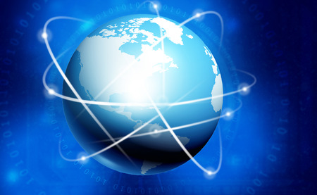 Global networking background. 3d illustration