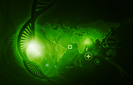 Concept of genetic science. Digital illustration