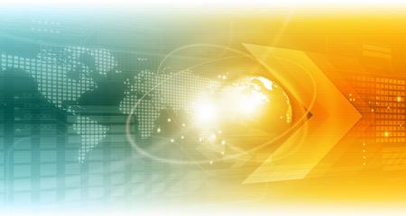 Global technology background. Digital illustration Imagens
