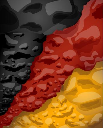 German flag of clouds, vector illustration Ilustração