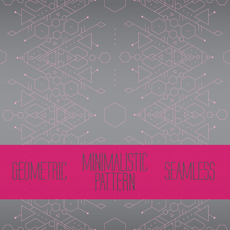 Pink and grey geometric minimalistic trendy tattoo seamless background vector