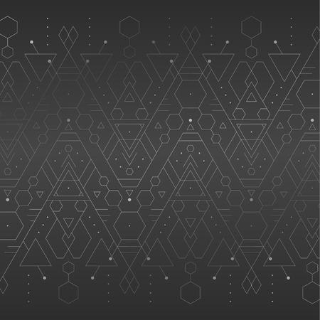 Dark grey chrome geometric trendy minimalistic background