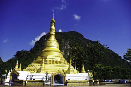 gold pagoda, south east asia photo