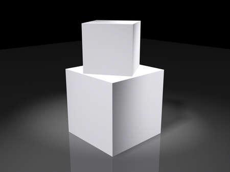ebox: Due caselle vuote Archivio Fotografico