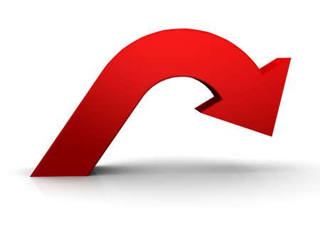 flecha derecha: Flecha roja