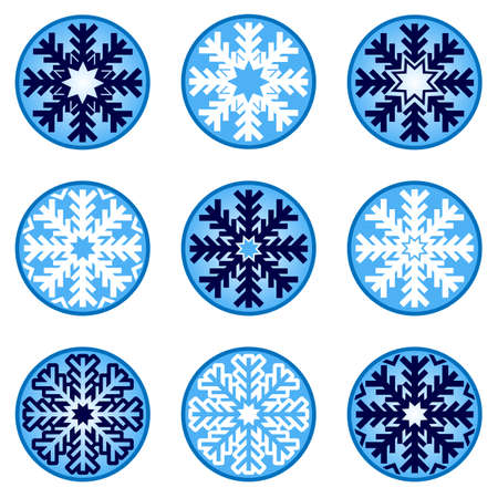 Snowflakes Ornaments Vector