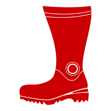 safety shoes: Boot Illustration Isolated On White Background