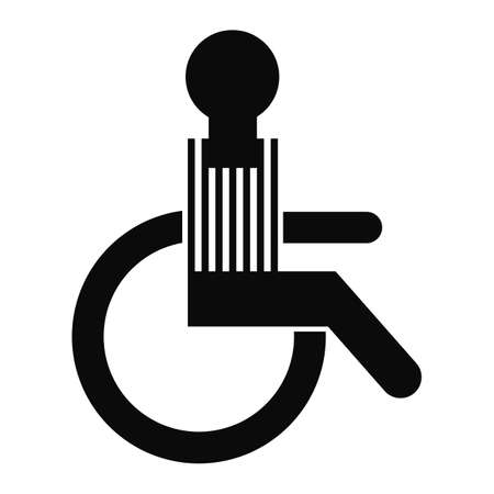 wheelchair access: Wheelchair Access Icon Isolated On White Background