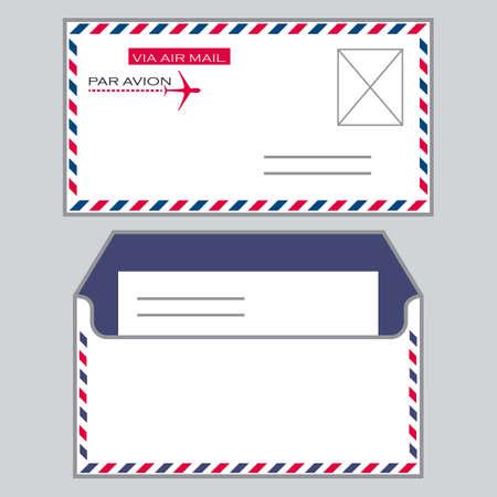 envelops: Set of two envelops- face and back, isolated on grey background  Illustration