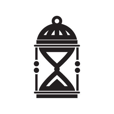 sand clock: Silueta de reloj de arena, aisladas sobre fondo blanco Vectores