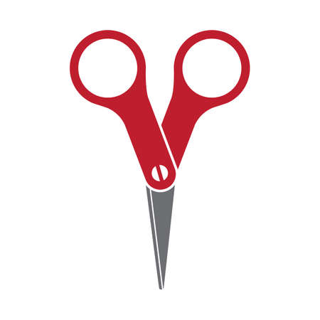 Color scissors illustration, isolated on white background  Vector