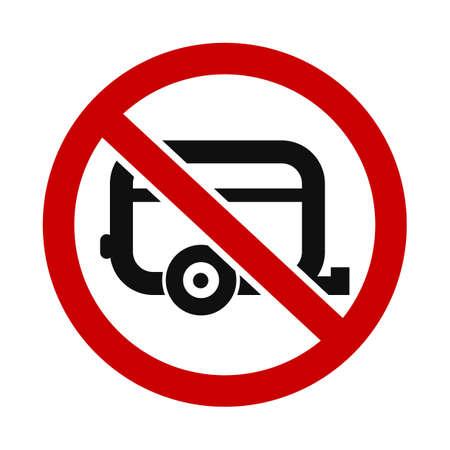 allowed: Caravans Not Allowed Illustration