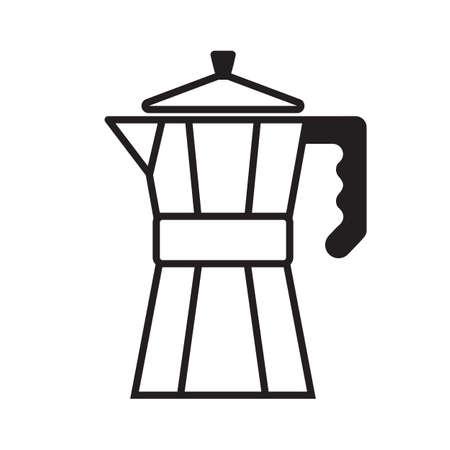 coffee maker: El ejemplo simple de una m�quina de caf�, aislados en fondo blanco. Vectores