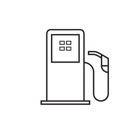 Silhouette of a petrol pump, isolated on white background.