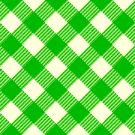 Vintage tablecloth pattern with squares in light green and white.