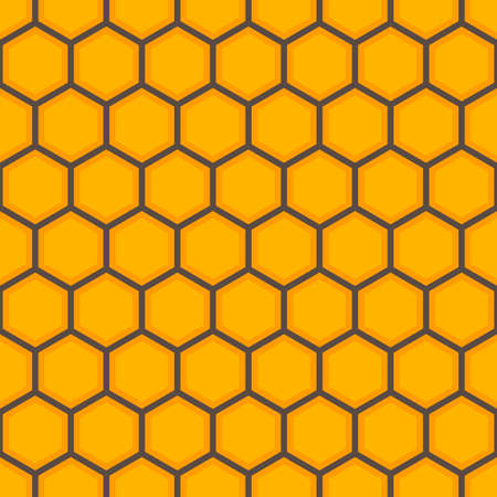 Seamless honey comb colorful pattern. Illustration