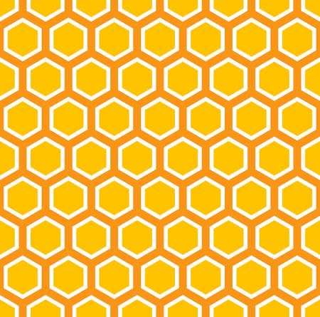 honey: Seamless colorful pattern with octagons.