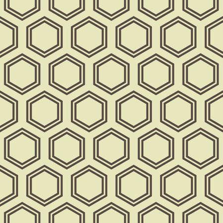 Simple seamless honey comb geometrical pattern. Illustration