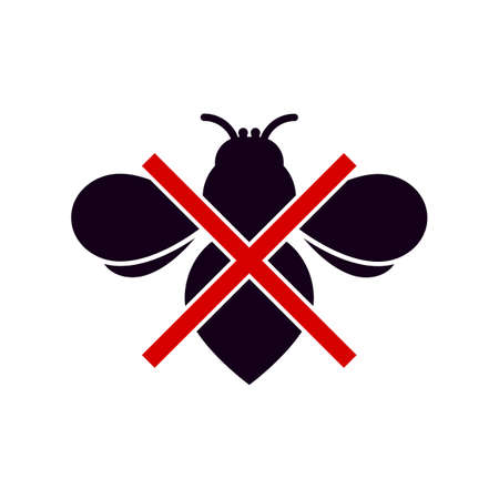 injurious: No insects symbol, isolated on white background.
