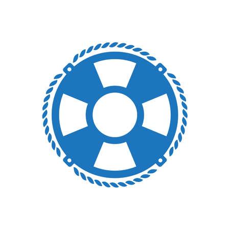 Life belt symbol, isolated on white background. Illustration