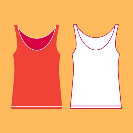 Illustration of two vests on color background. Illustration