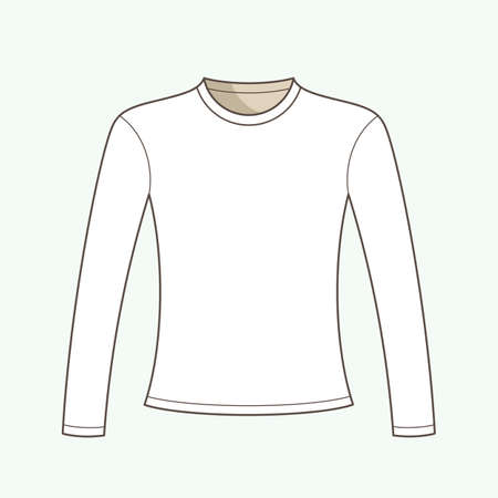 T-shirt with long sleeves vector illustration