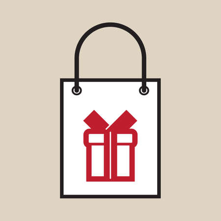 Illustration of a shopping bag with a gift symbol