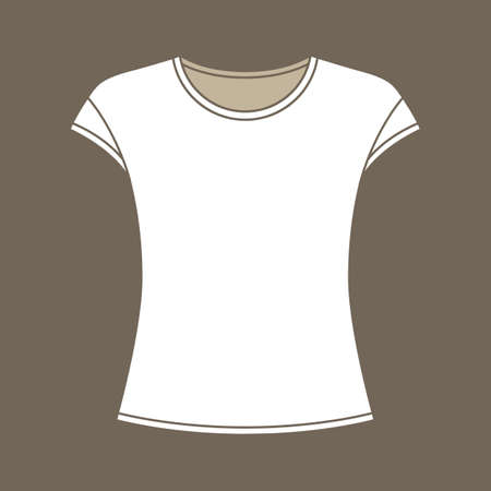 Silhouette of a t-shirt without sleeves vector illustration