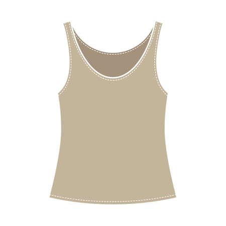 Single vest silhouette vector illustration