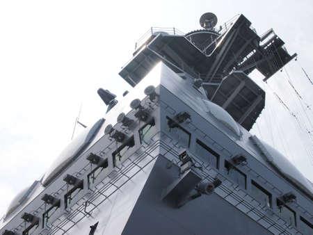 Maritime Self-Defense Force escote Hyuga bridge