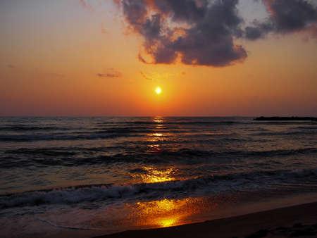 Mikuni sunset beach Stock Photo