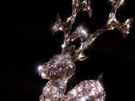 Illumination of reindeer Stock Photo