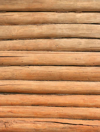 wooden log wall texture background - vertical  photo