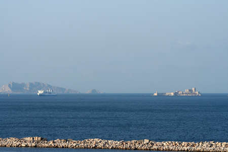 monte cristo: morning in marseille, france - castle if and coast