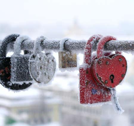 frozen heart-shaped lock photo