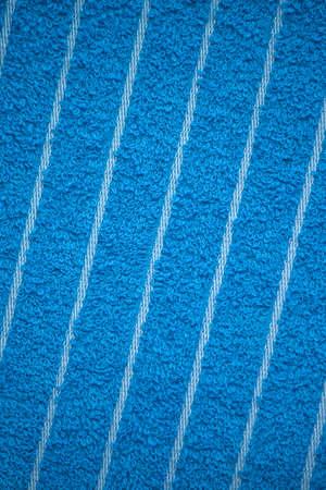 house ware: bright blue bath towel surface texture