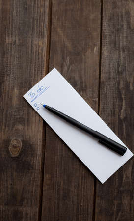 panelling: to do list ready to write with pen