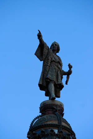 columb: Christopher Columbus Statue in Barcelona, Spain
