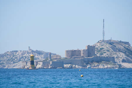 archipelago: view to the castle If, and the Frioul archipelago, Marseille, France